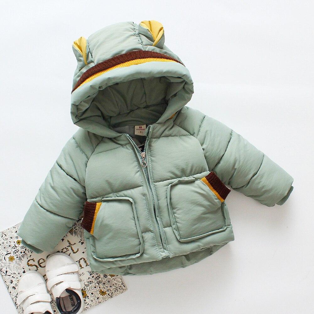 Épais chaud enfants hiver manteau coton rembourré bambin garçons filles veste de survêtement vers le bas Parkas poche à capuche enfants neige porter Z597