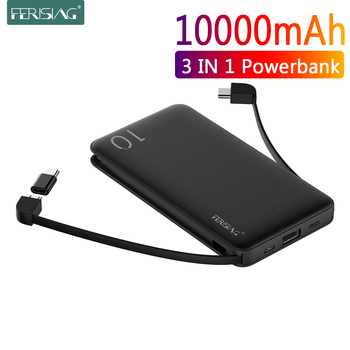 FERISING Power Bank 10000mAh USB Portable Charger PowerBank External Battery Charging Phone Pack For iPhone Samsung Xiaomi Mi9
