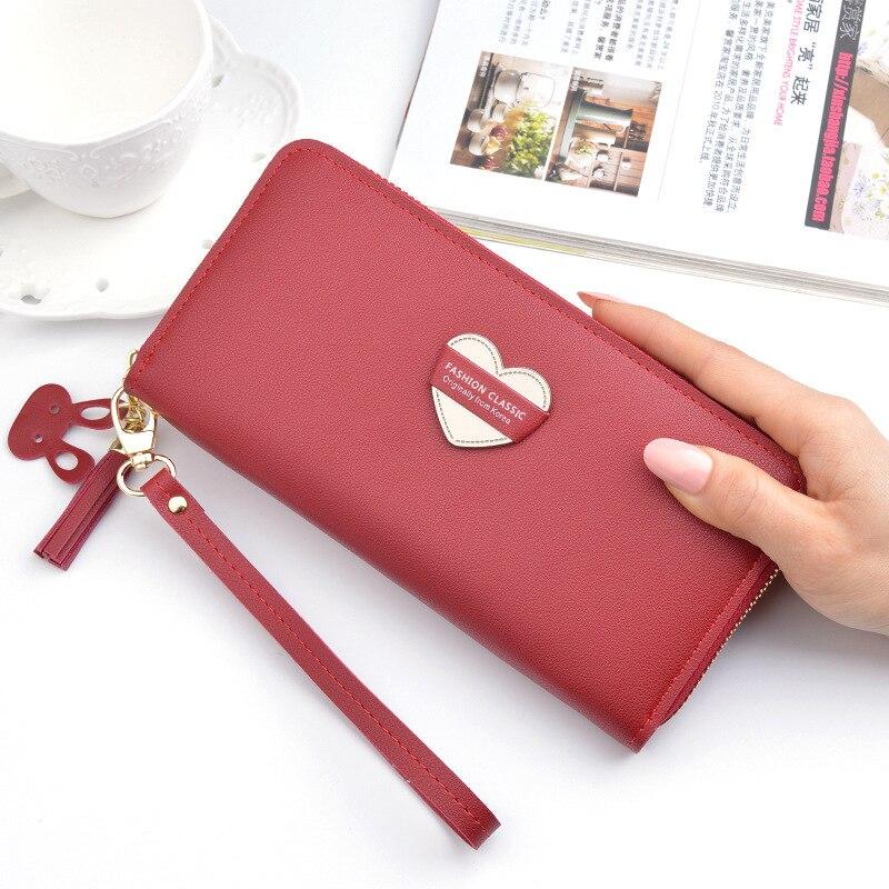 New Arrival Women Long Zipper Wallet Purse Fashion Classic Big Capacity Phone Wallets Tassel Clutch Bag Portafoglio Donna.