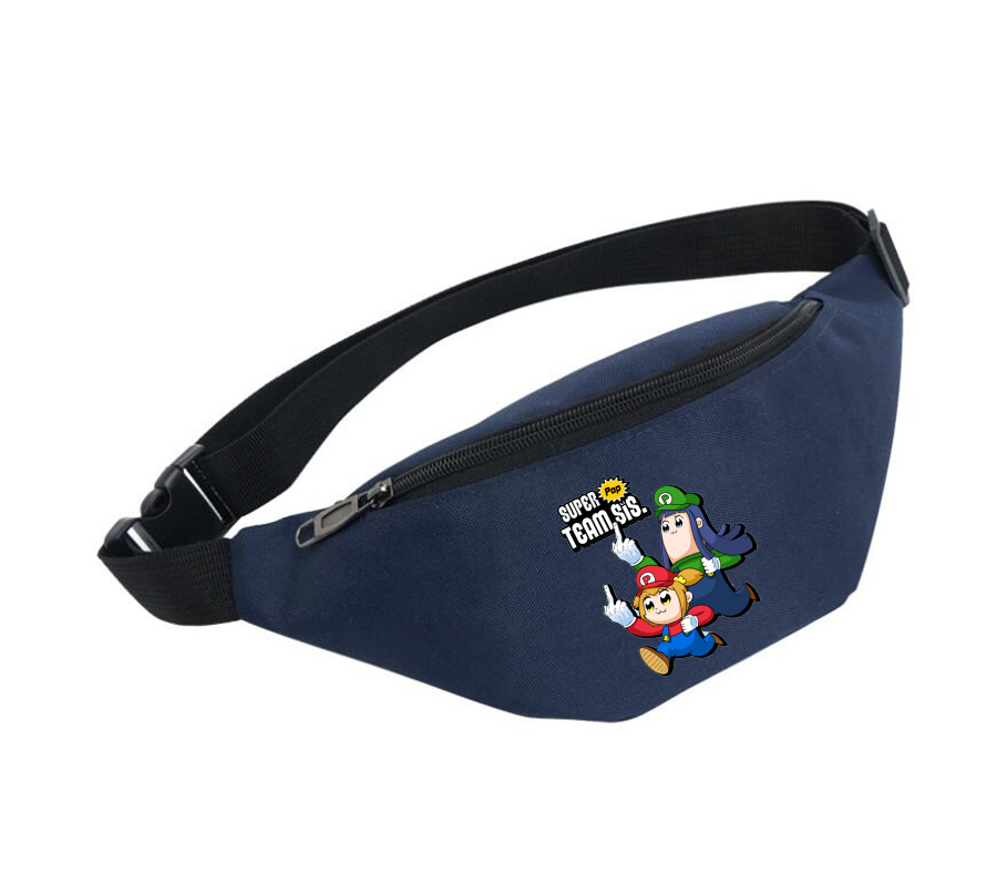 Waist Bag Women Belt Waterproof Chest Handbag Unisex Fanny Pack Ladies Waist Pack Belly Bags For Anime Pop Team Epic