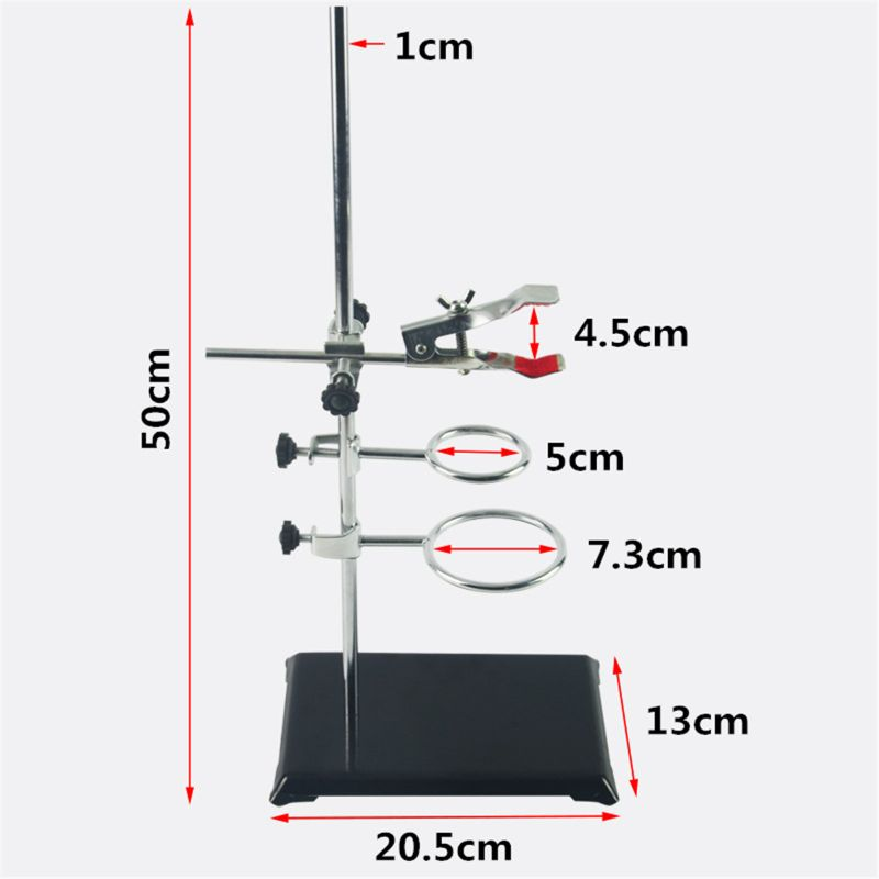 1 SET Laboratory Stands Support And Laboratory Clamp Lab Clips Flask Clamp