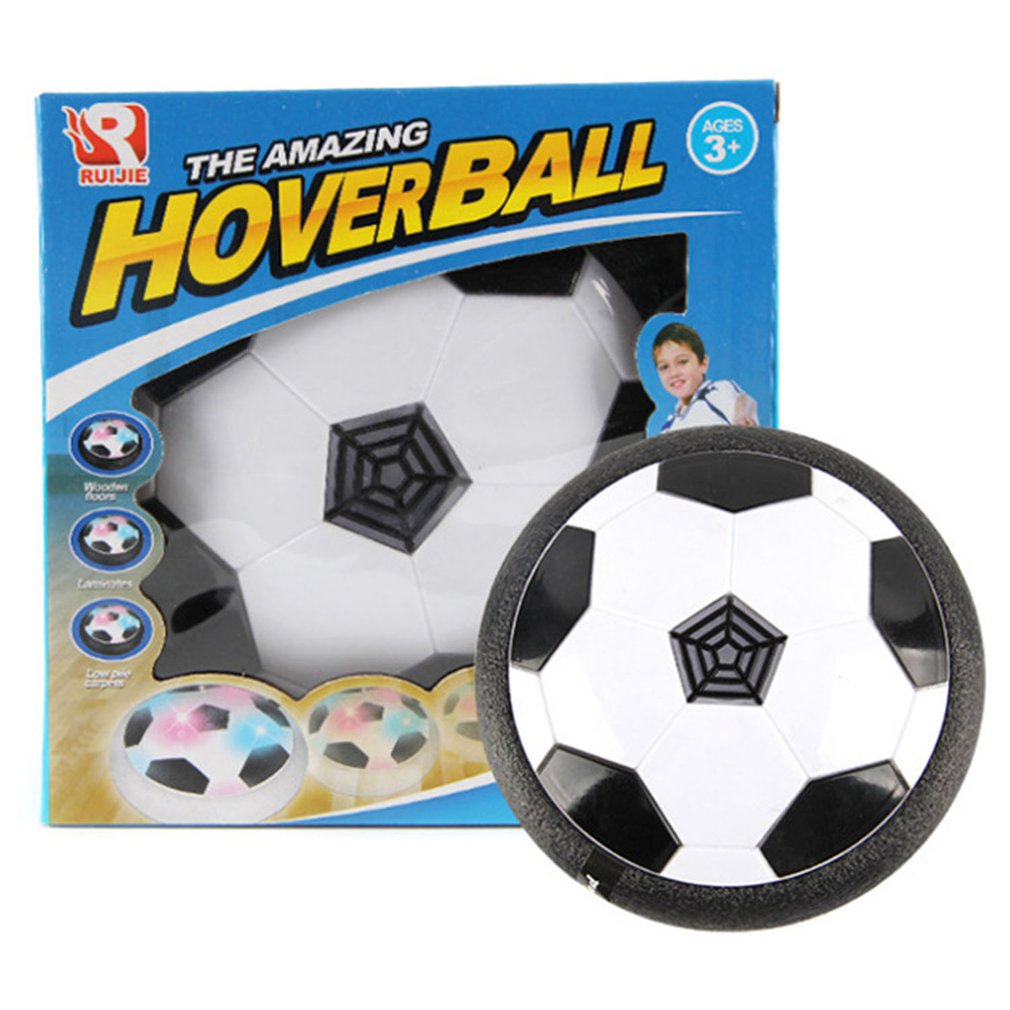 18CM Funny LED Light Flashing Air Power Soccer Ball Disc Indoor Football Toy Multi-surface Hovering Gliding Toy Kids Sports Toys
