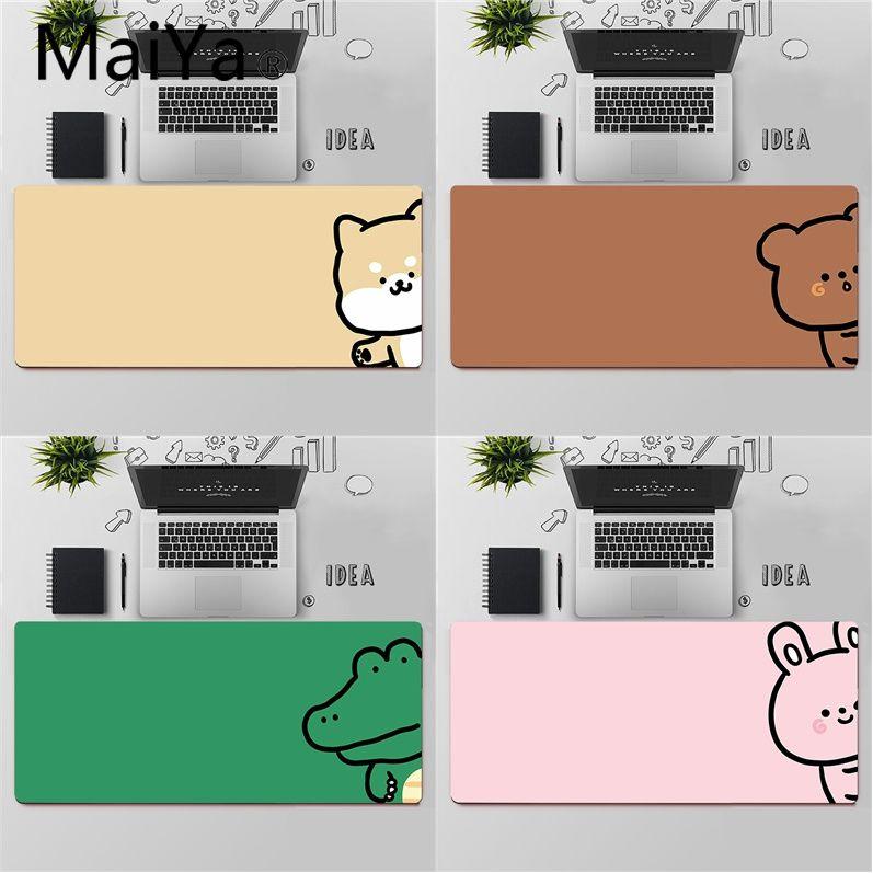 Maiya Top Quality Cute Koala Dog Crocodile Bear Unique Desktop Pad Game Mousepad Free Shipping Large Mouse Pad Keyboards Mat
