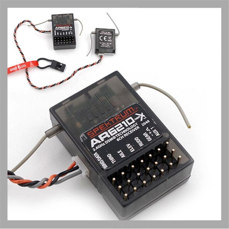 AR6210 Receiver+ JR Remote Controller Full Set DSM-X DSM2 For Spektrum 6-Channel