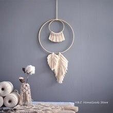 Декоративный гобелен в стиле бохо хлопковая веревка ручной работы