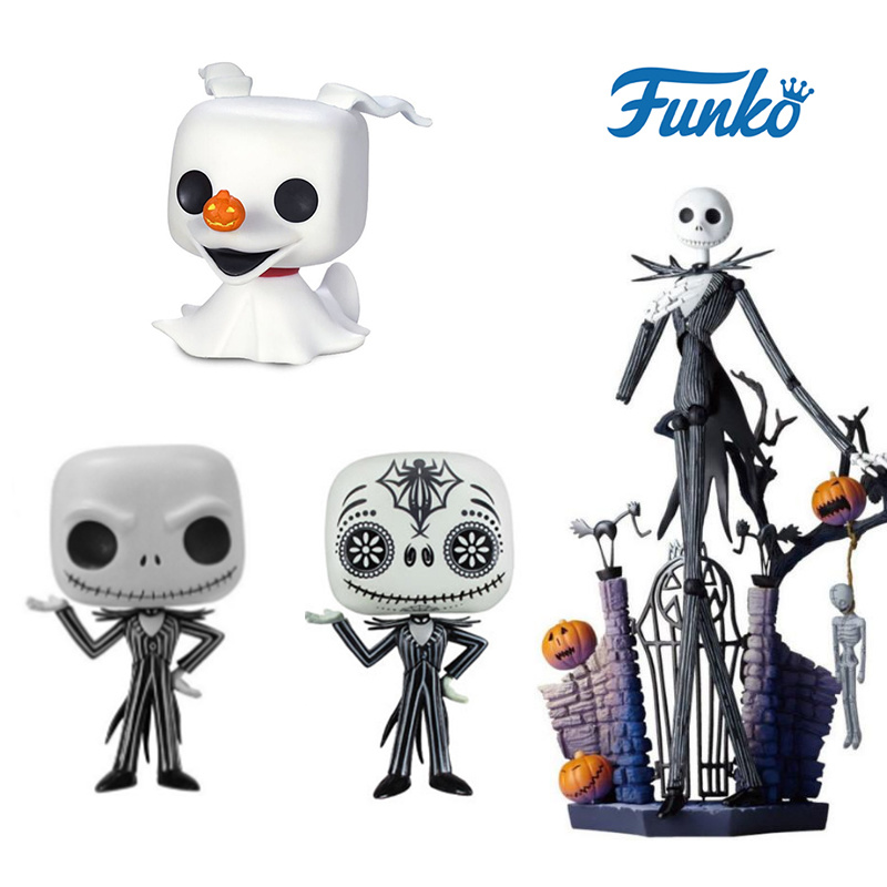 FUNKO POP Nightmare Before Christmas Zero Jack Skellington Action Figures Collection Model Toys For Children Halloween Gift