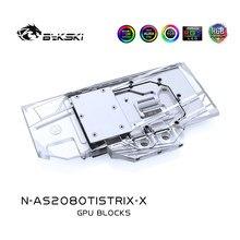 Bykski – bloc de refroidissement à eau pour ASUS ROG STRIX GTX 2080TI, bloc VGA, refroidisseur de GPU, en-tête de lumière 12v 4pin,5v 3pin,