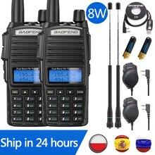 2PCS Baofeng UV-82 Plus 8W Estação de Rádio CB Walkie Talkie UV82 10KM VHF UHF Dual Band UV 82 Rádio Em dois Sentidos Rádio Amador