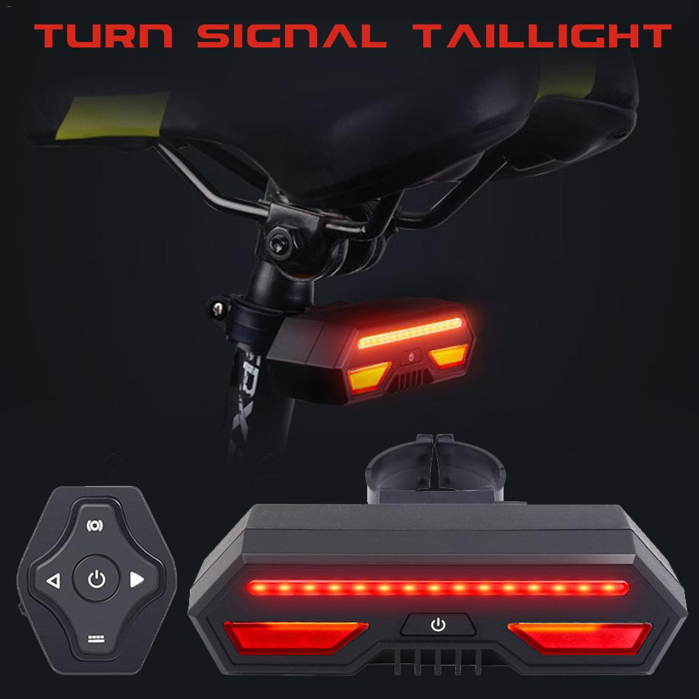 Remote Control USB <font><b>Rechargeable</b></font> Bicycle Rear <font><b>Light</b></font> Cycling LED Taillight Waterproof MTB Road <font><b>Bike</b></font> Tail <font><b>Light</b></font> <font><b>Back</b></font> Lamp For <font><b>Bike</b></font> image
