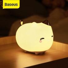Baseus akumulatorowa lampa LED lampka nocna czujnik dotykowy Cute Animal silikonowe światło LED dla dzieci prezenty dla dzieci dla dzieci oświetlenie do sypialni