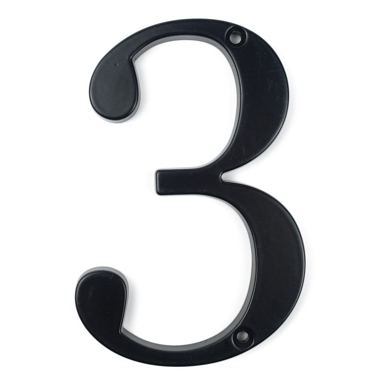 10cm Big Modern House Number Door Home Address Mailbox Numbers For House Number Digital Door Outdoor Sign 4 Inch. #3 Black