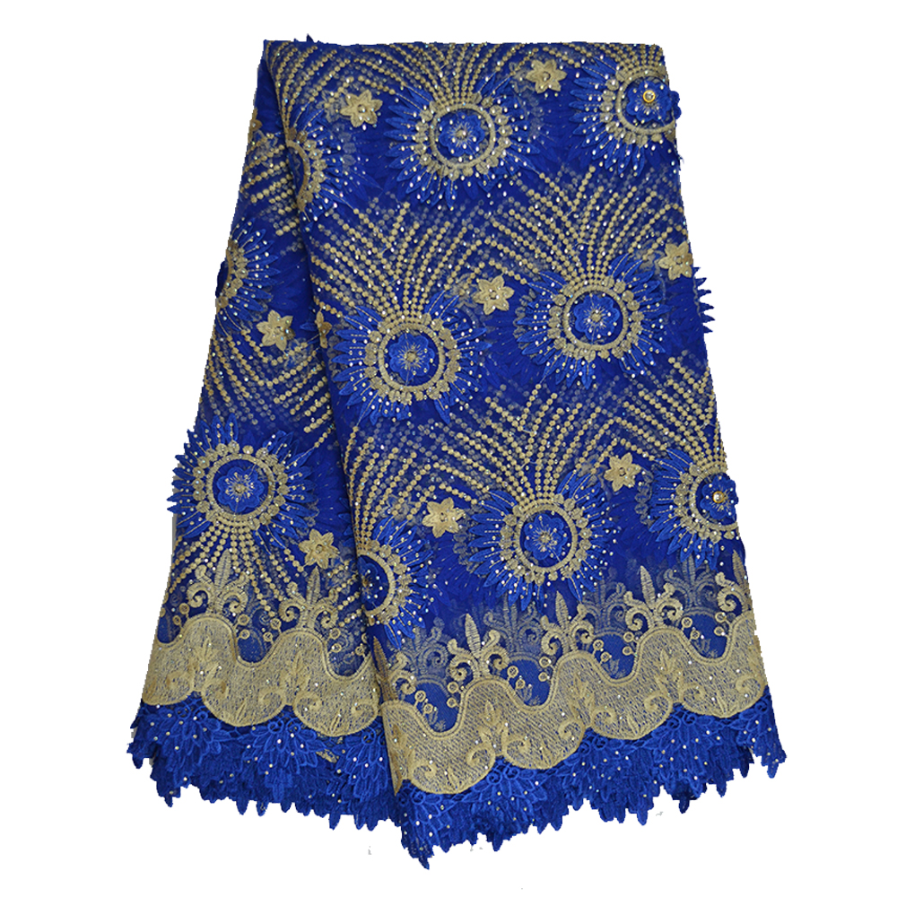 3D Swiss Voile Lace Fabric For African High Quality Africa French Lace Fabrics With Stones 2019 Tulle Nigerian Embroidery Lace