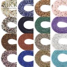 3mm 21Styles Natural Tiger Eye Howlite Turquoises Amazonite Garnet Quartz Stone Round Beads For Jewelry Making Diy Bracelet 15