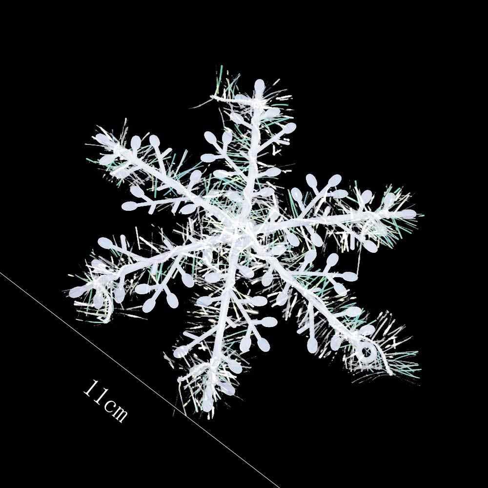 Il Giorno di natale Bianco Fiocco di Neve Della Decorazione Pendenti e Ciondoli Del Partito di Festival Ornamento Bella di Notte pratico multi-funzione