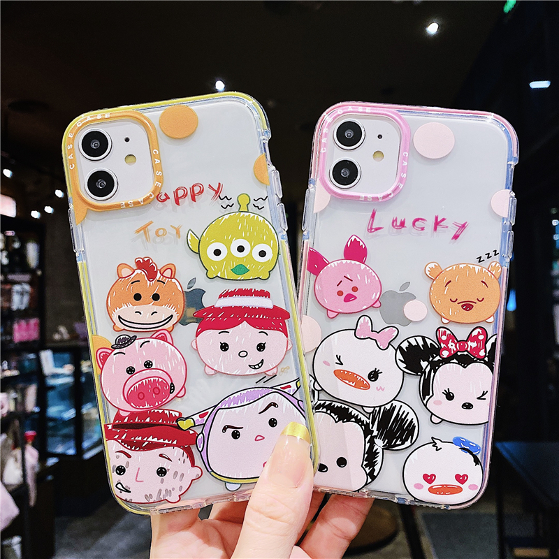 Disney Iphone 11 Case | Hot Japan Cute Cartoon Disney Mickey Soft TPU Clear Iphone 11 Pro Case For Iphone 7 8 7plus 8plus X XS XR 11 Case Transparent