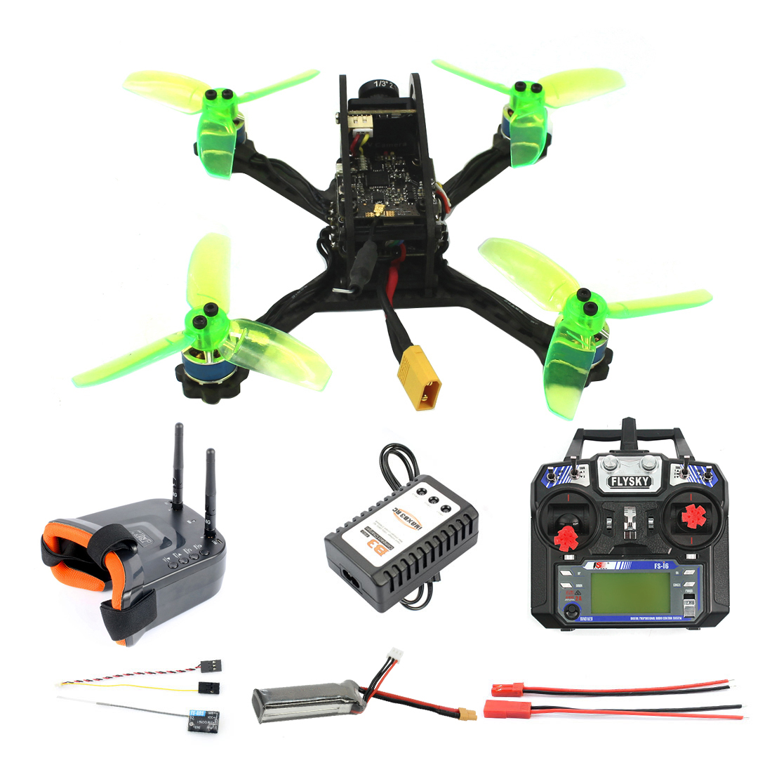 RTF FPV Racing <font><b>Drone</b></font> 135mm Mini F3 OSD 2S RC Quadcopter 10A 7500KV <font><b>Brushless</b></font> 2.4G 6ch BNF RTF Combo Set 1200TVL HD Camera image