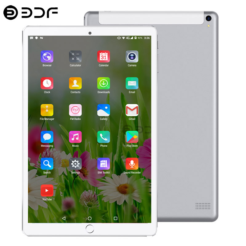 New 10.1 Tablet Android 7.0 Support Google Play 4G/3G Call Octa Core 6GB+128GB Wi-Fi Bluetooth Super Tablet PC+Keyboard