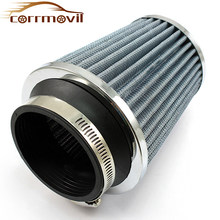 Universal Car High Flow Air Filter For Car For 76mm Intake Hose Kit Sports Air Filter Supercharger China Air Express Accessories(China)