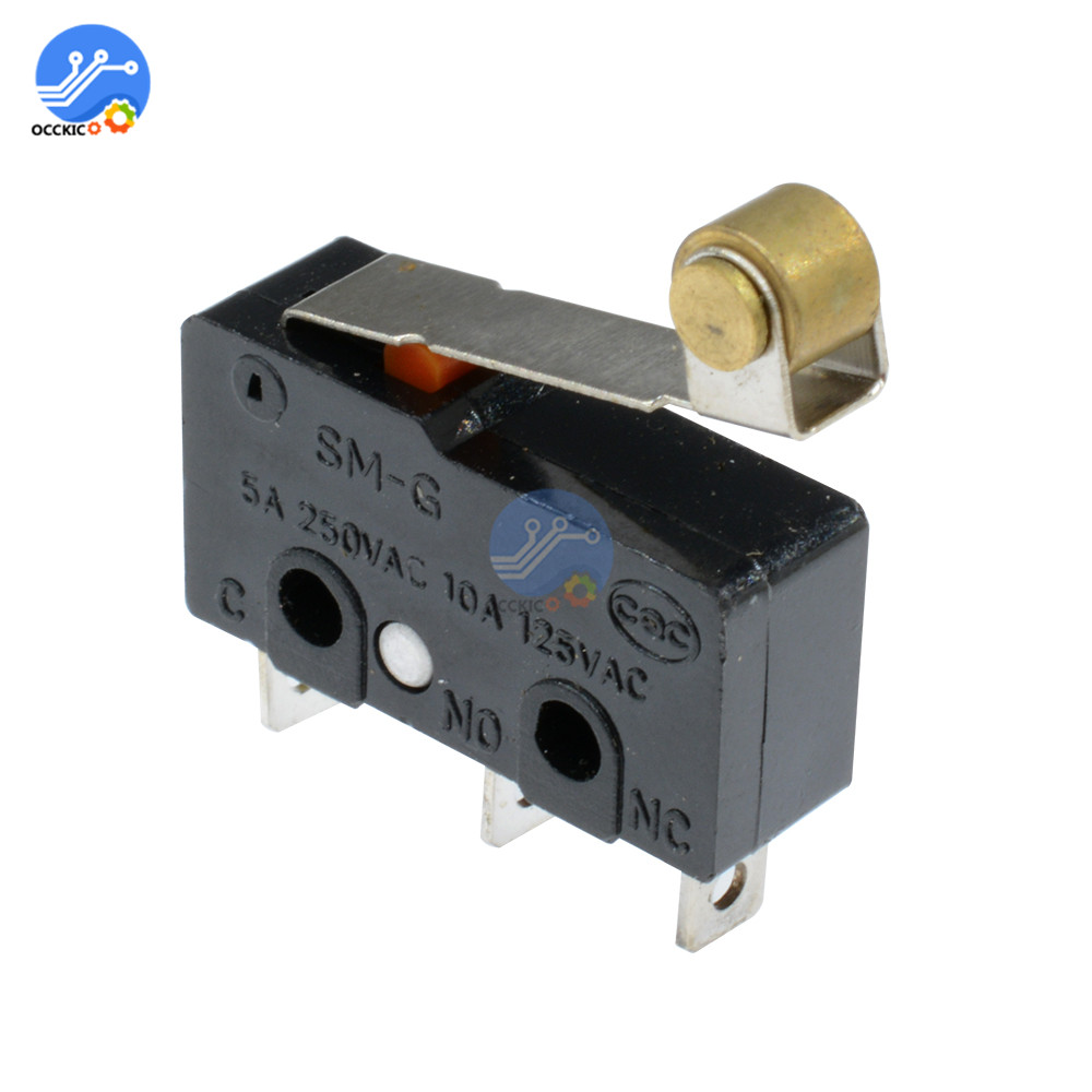10Pcs KW11-3Z Mini Micro Limit Switch 3Pin Roller Lever Arm SPDT Snap Action LOT Microswitch AC 250V/5A 125V/10A