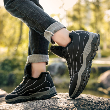 2019 Fashion Winter With Fur Snow Boots For Men Sneakers Male Shoes Adult Casual Quality Rubber Ankle Warm Boots Couple
