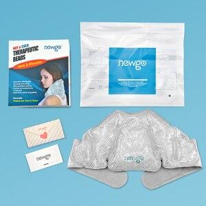 Многоразовый ледяной пакет с горячими и холодными терапевтическими гелевыми бусинами, холодный пакет для спортивных травм, жара, боли в мыш...