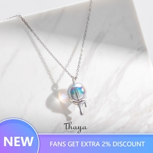 Thaya Rainbow Bubble Necklace 925 Silver bohemia choker for Women Original Design Jewelry