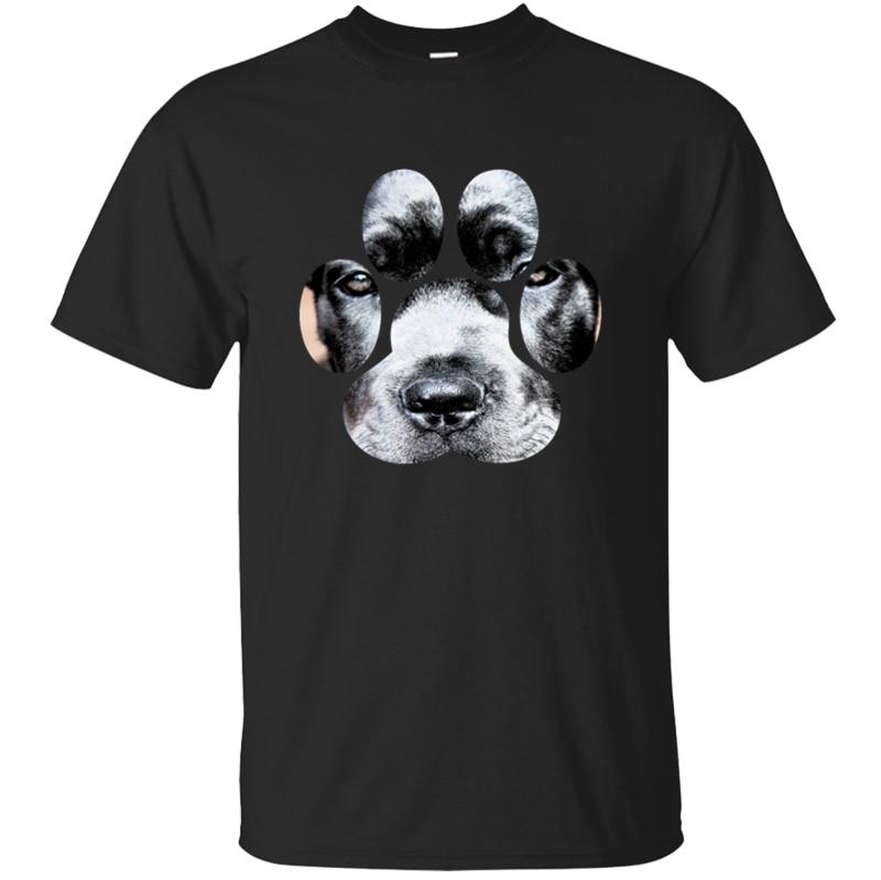 Creative confortable cane corso patte empreinte molosser t-shirt 2020 vêtements photos hommes t-shirt 100% coton col rond