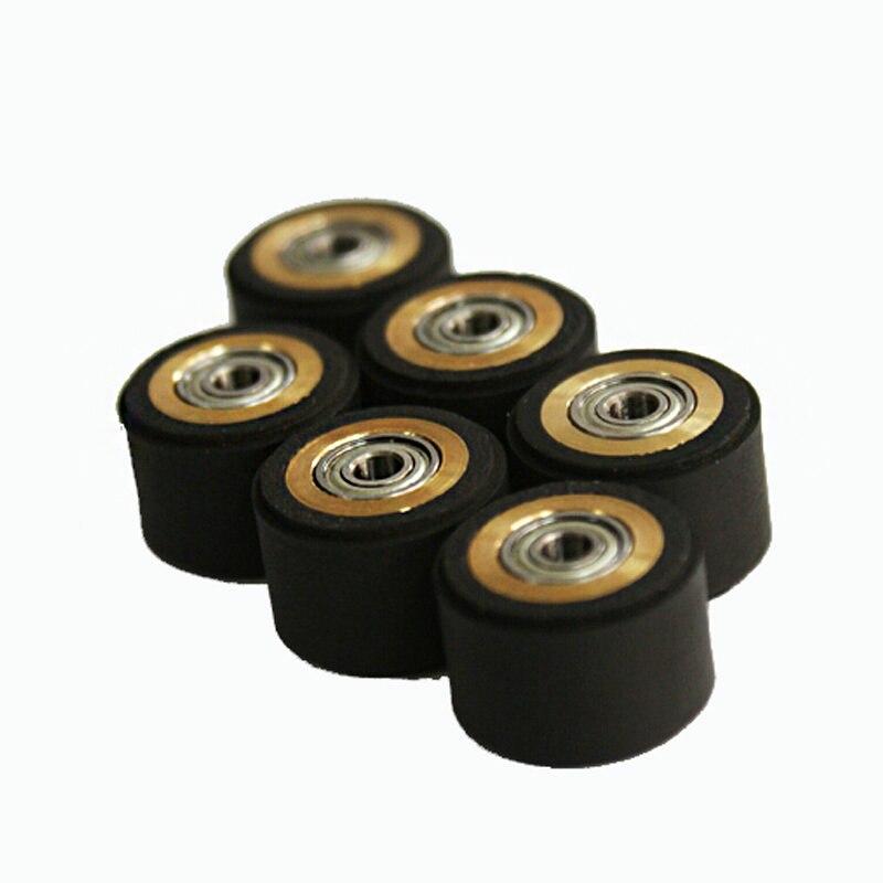 10pcs Pinch Roller Graphtec Inkjet Printer Vinyl Cutter Cutting Plotter Roll 4x11x16mm Rubber Copper Core Press Paper Wheel
