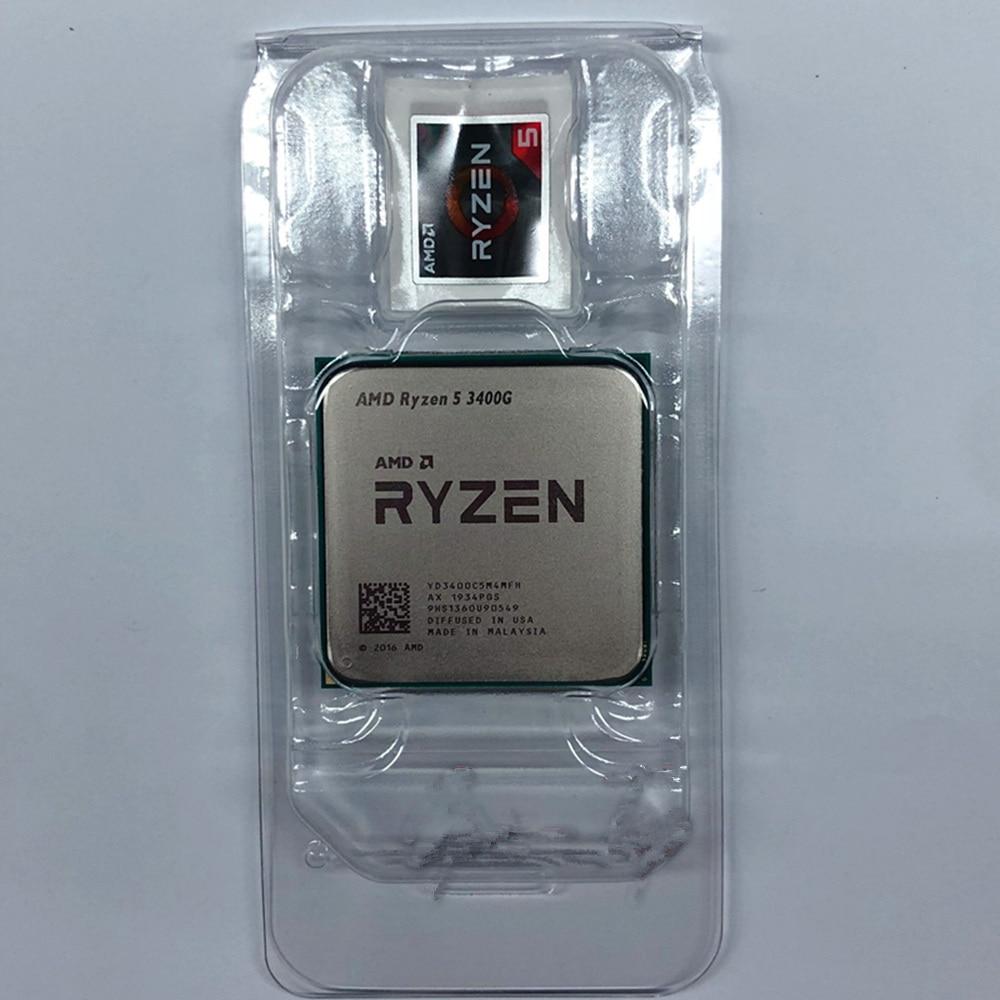 IsMyStore: AMD Ryzen 5 3400G R5 3400G 3.7GHz Quad-Core Eight-Wire 65W CPU YD3400C5M4MFH Socket AM4 with Original Fan
