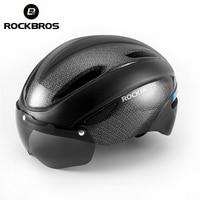 ROCKBROS Fahrrad Helm Radfahren Männer EPS Atmungs Radfahren Helm Männer Frauen Brille Objektiv Aero MTB Rennrad Helm Zubehör