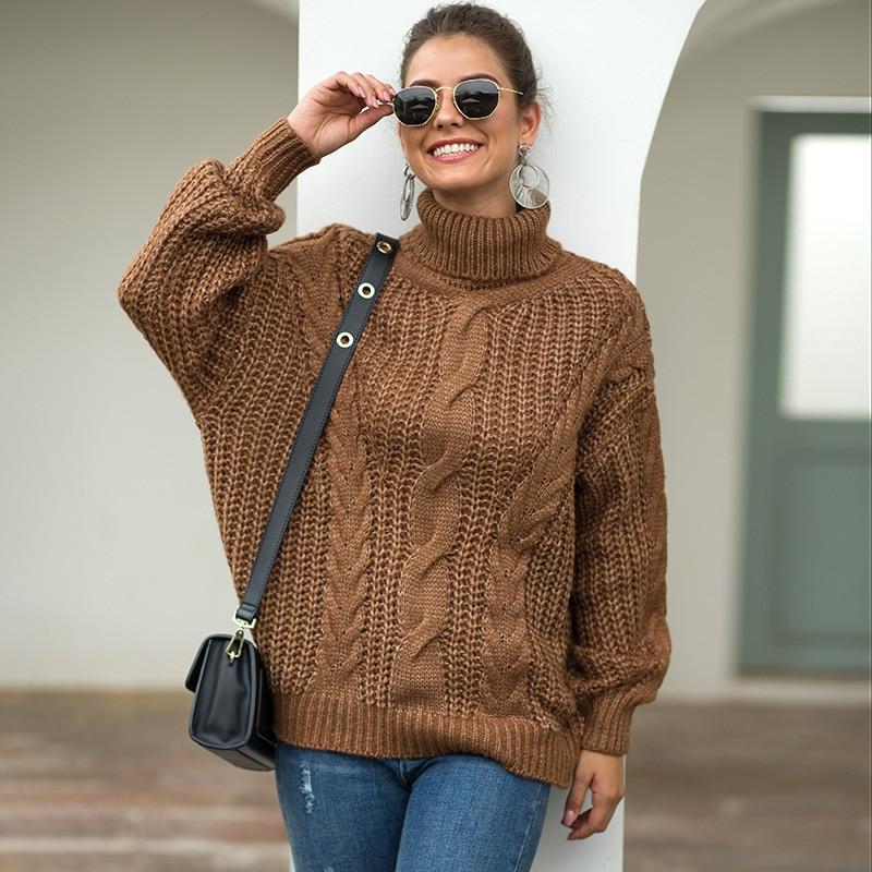 turtleneck sweaters women oversized sweater harajuku 2019 fashion plus size knitted top christmas 2018
