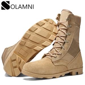 Image 1 - Professionele Militaire Laarzen Voor Mannen Speciale Kracht Lederen Desert Combat Laarzen Heren Outdoor Waterdichte Leger Enkellaarsjes