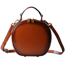 sleeper w401 2019 new women s lace fresh handbag cross body bag solid color small round bag сумка женская daily free shipping New leather handbag retro apple bag shoulder messenger bag handbag solid color fashion small round bag Fashion  Women