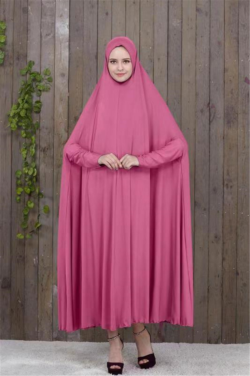 Muslim Prayer Garment Thobe Eid Mubarak Hijab Dress Women Chic Hooded Middle East Dubai Turkey UAE Jurken Abaya Islamic Kimono