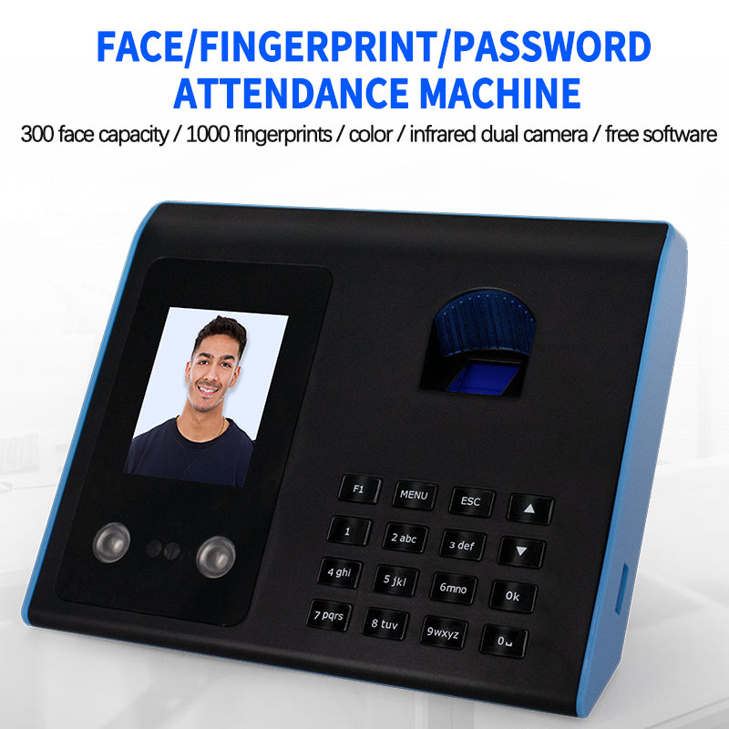 Face Fingerprint Recognition Attendance Machine Fingerprint Punch Card Machine Employee Commute Attendance Machine