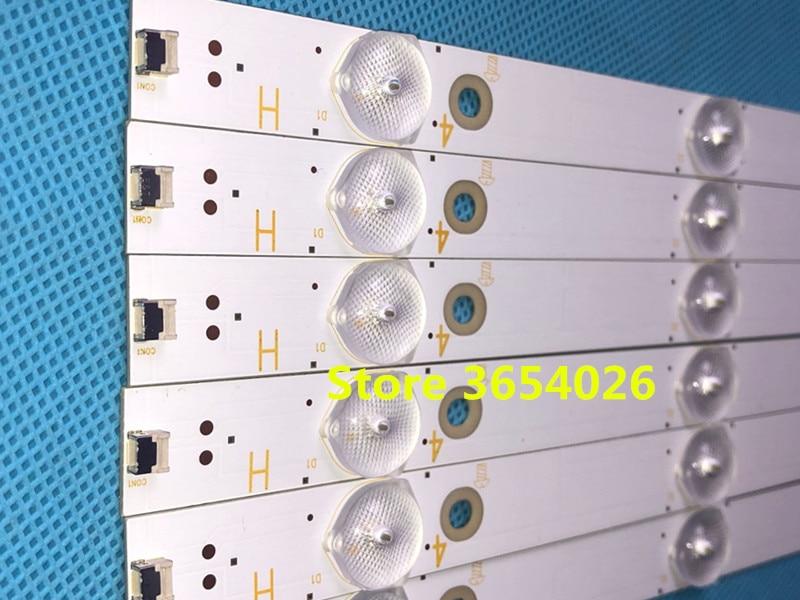 Kit 12 PCS/lot LED backlight strip for 50PUH6400 50PUF6061 500TT67 V2 500TT68 V2 CL 2K15 D2P5 500 D612 V1 R L-in Stage Lighting Effect from Lights & Lighting