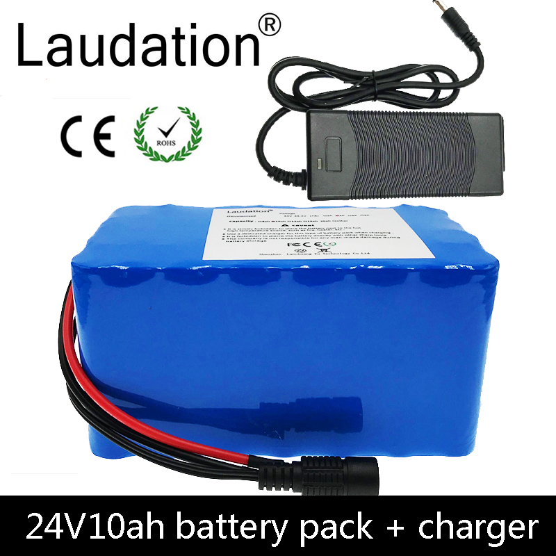 laudation 24V 10ah electric bicycle lithium <font><b>battery</b></font> 24V <font><b>7S</b></font> 4P 18650 <font><b>battery</b></font> <font><b>pack</b></font> for 250W 350W electric motorcycle with 15A BMS image