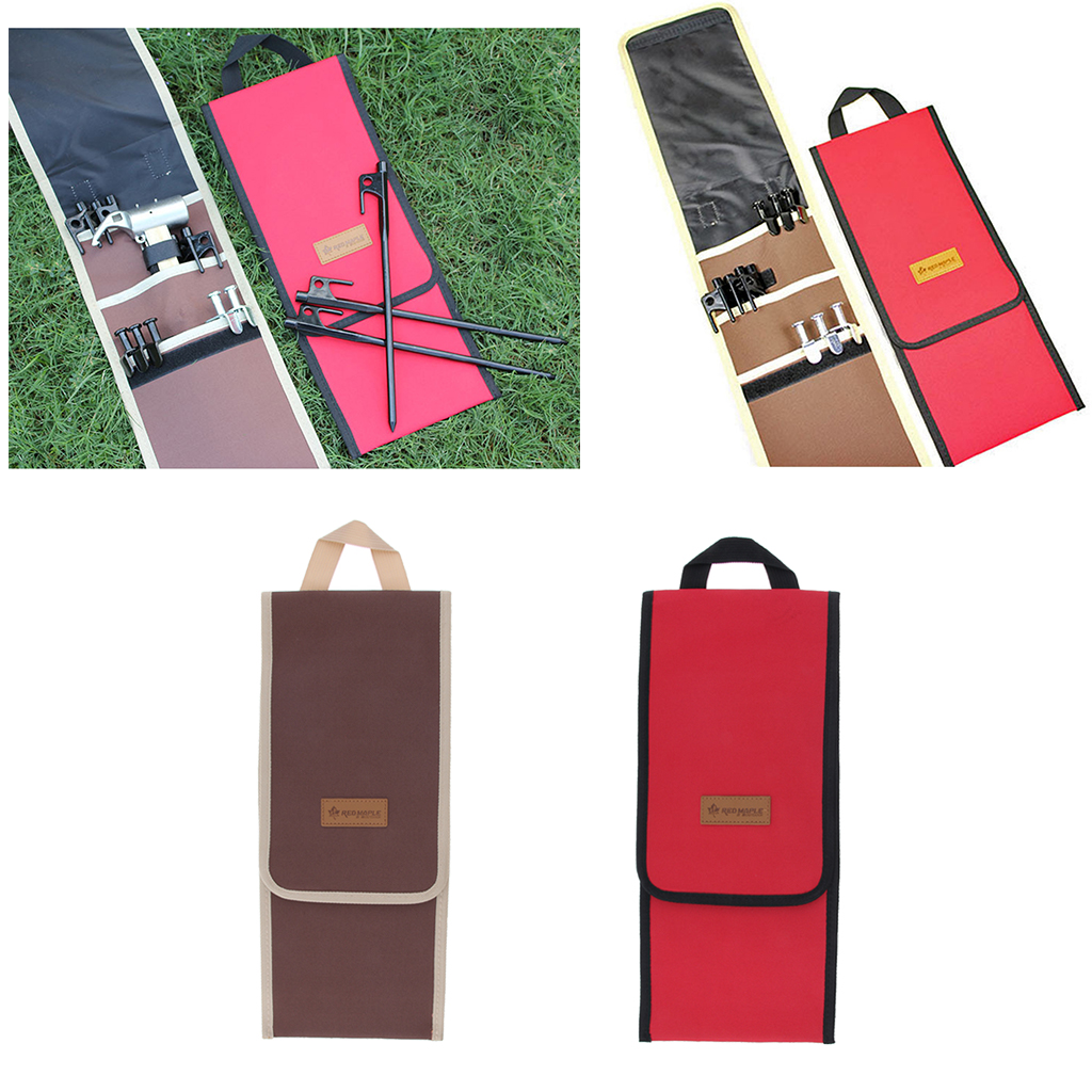 Camping Tent Stakes Pegs Storage Bag Awning Nail Hammers Case Holder HS