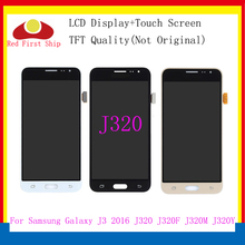10Pcs/lot LCD Replacement For Samsung Galaxy J3 2016 J320 J320F LCD Display Touch Screen Digitizer Assembly with Brightness for samsung galaxy alpha g850 lcd display touch digitizer assembly free dhl ups ems black gray white hq 100% warranty 10pcs lot