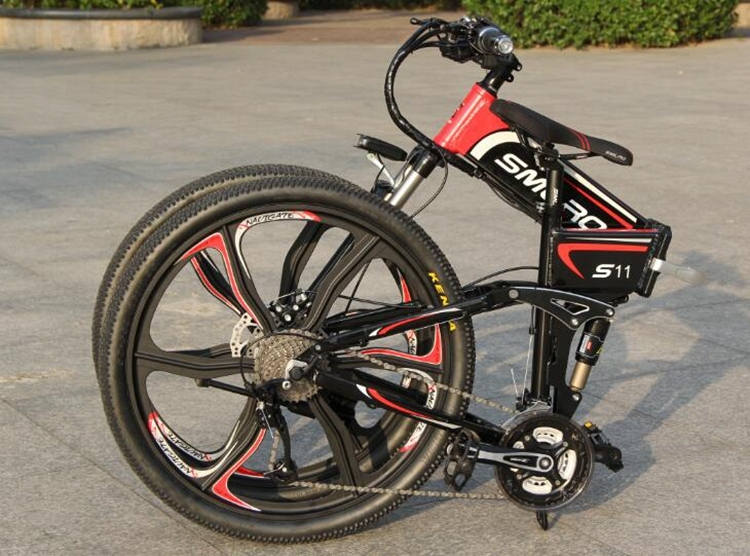 "S11YTL Steadfast e bike26"" Folding Electric Bicycle 48V 10AH 350W  E MTB Foldable ELectric Bike 5"