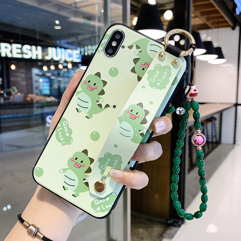 Wrist Strap Case For <font><b>Samsung</b></font> Galaxy A70 A71 A50 A51 A40 A30 A20 <font><b>A10</b></font> Cartoon Animals TPU Phone Holder Cover Hanging beads <font><b>Coque</b></font> image