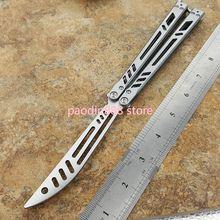 EDC Knife Knives Butterfly Trainer Blade-Handle Pocket Pure-Steel CNC Jilt Barebones
