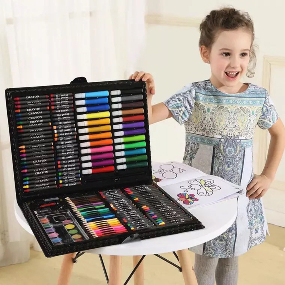 108/150pcs Set Kids Art Set Children Drawing Set Water Color Pen Crayon Oil Pastel Painting Drawing Tool Art Supplies Stationery