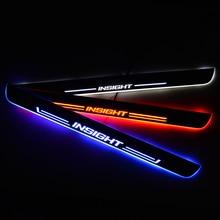 Umbral de puerta LED para Honda INSIGHT ZE 2009, placa de desgaste de puerta, protector de entrada, luz de bienvenida, accesorios para coche
