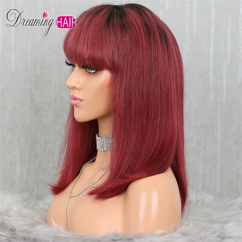 H35b781feeeeb4475b58066adf01d7501h 613 Short Cut 13X4 Bob Lace Front Human Hair Wig with Bangs Honey Blonde Color Transparent Lace Front Wigs For White Woman