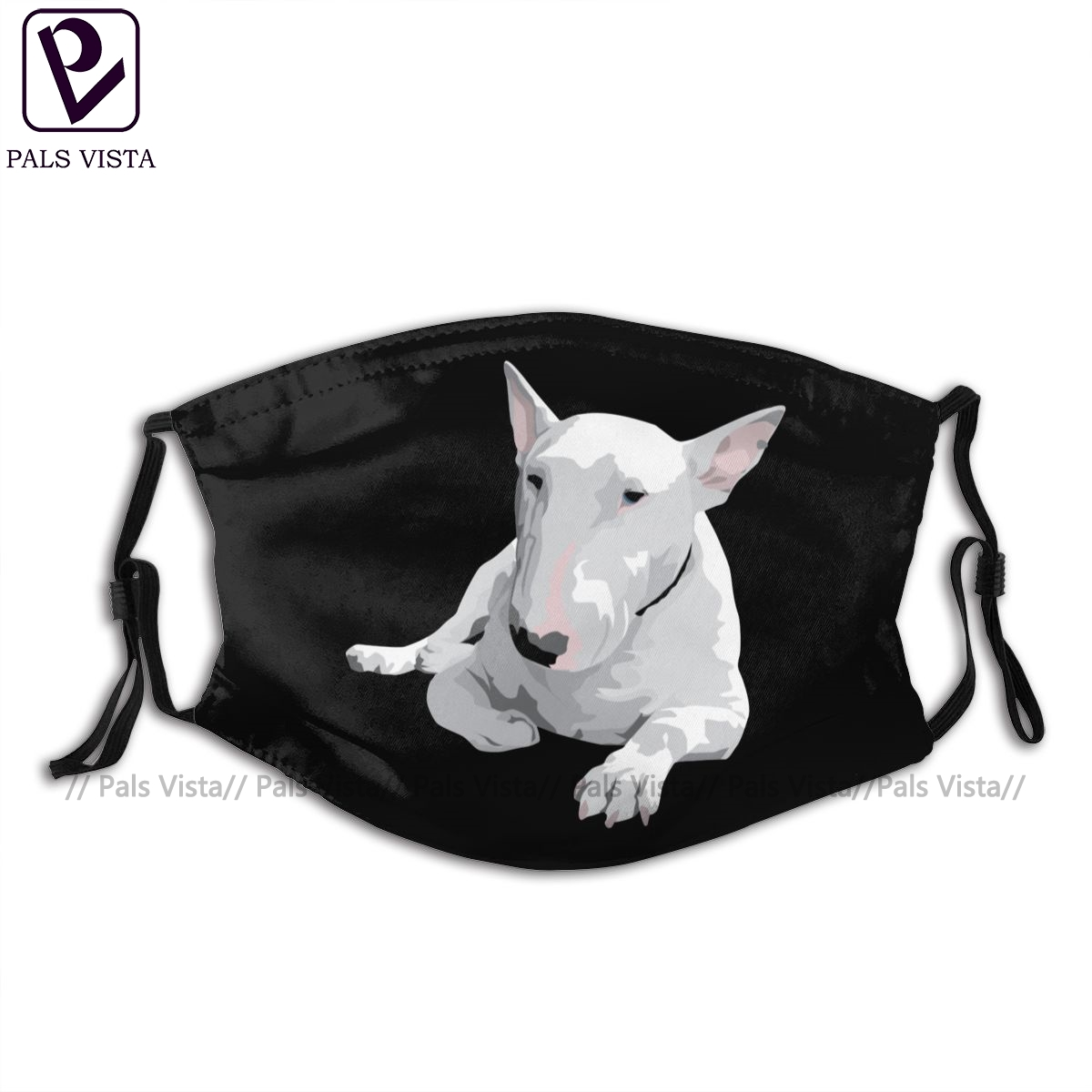 Bull Terrier Mouth Face Mask English Bull Terrier Facial Mask Funny Fashion With 2 Filters For Adult