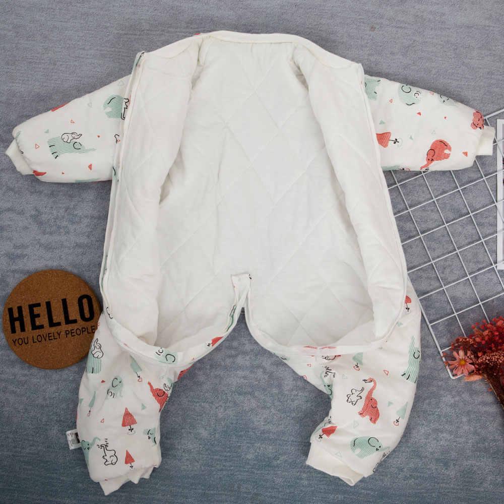 Sac de couchage bébé sac de transport pour nouveau-né bébé motif Animal enfants lit jouer fendu jambe hiver Anti Tipi sacs de nuit chaud