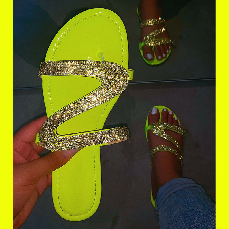 2020 Women Slippers Sandals Shoes Woman Flat Casual Shoes Outdoor Non-slip Female Slides Slippers Bling Sandals Sapato Feminino