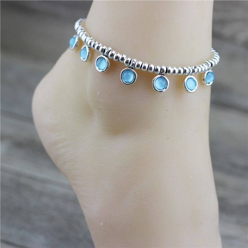 Anslow Original Design Fashion Jewelry Summer Holiday Color Anklet Women Beach Accessories Gift Beaded DIY Style New LOW0001AA