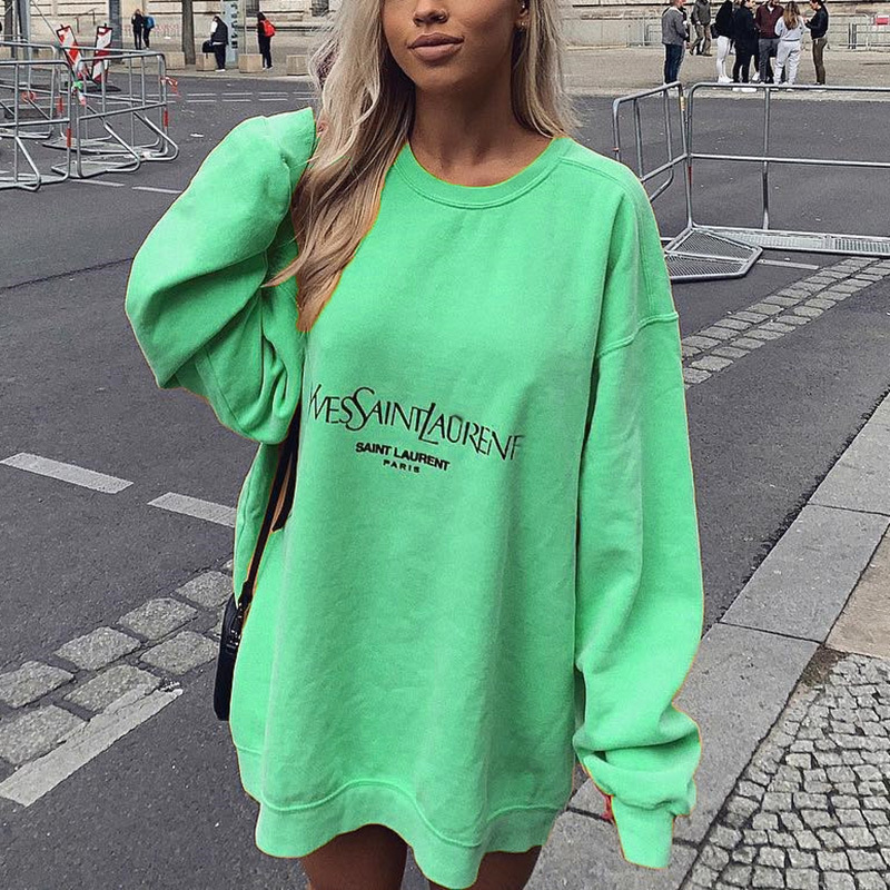 Women's Clothing Printed Long Sleeve Ladies Hoodies Casual O-Neck Harajuku Letter Print Female Sweatshirt Spring 2020 Pullovers